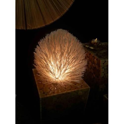Lampe oursin Ecru