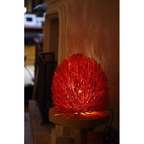 Lampe oursin Orange