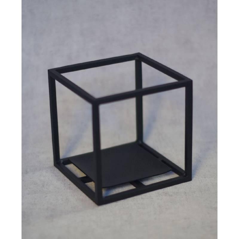 Cube arête noir